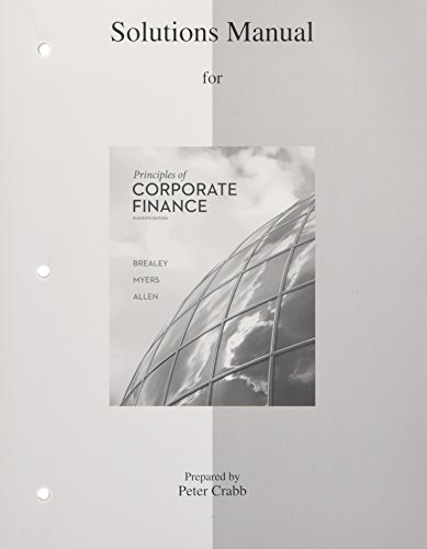 Solutions Manual to accompany Principles of Corporate Finance par  Richard A Brealey, Stewart C Myers, Franklin Allen