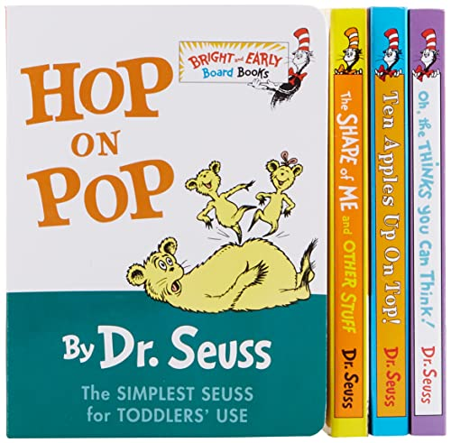 The Little Blue Box of Bright and Early Board Books by Dr. Seuss.