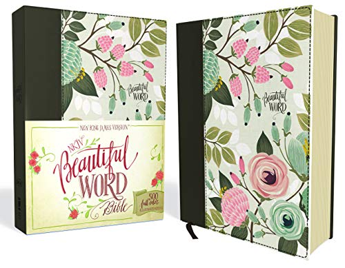 Beautiful Word Bible: New King James Version, Multi-Color Floral Cloth, 500 Full-Color Illustrated Verses