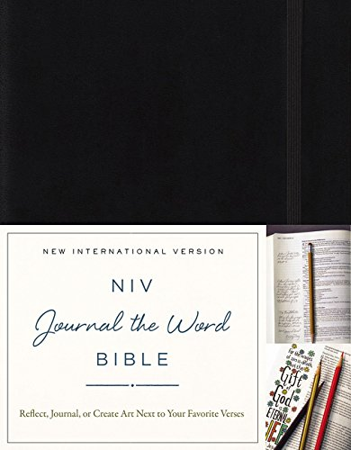NIV Journal the Word Bible: Black: Reflect, Journal, or Create Art Next to Your Favorite Verses