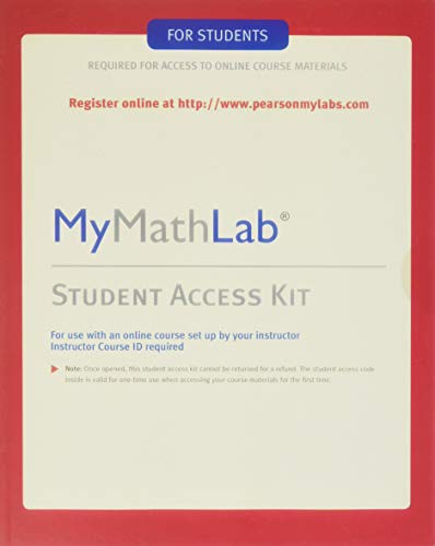 MyLab Math -- Standalone Access Card