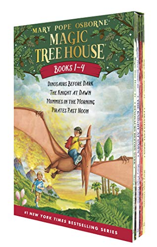 Magic Tree House #1-4: Dinosaurs Before Dark/the Knight at Dawn/Mummies in the Morning/Pirates Past Noon