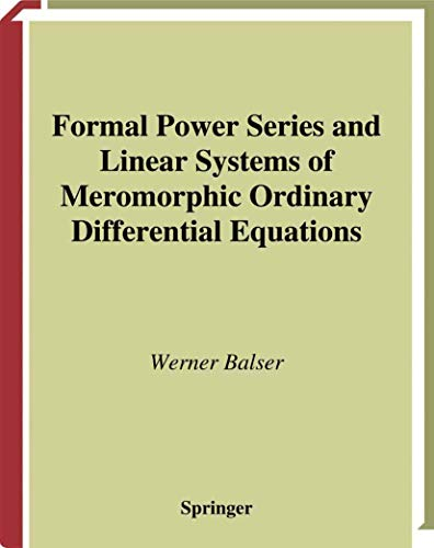Formal Power Series and Linear Systems of Meromorphic Ordinary Differential Equations