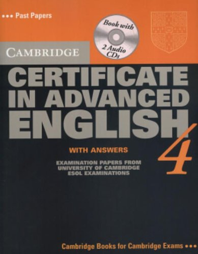Certificate in Advanced English 4 full Student book, Teacher book and Audio Cds
