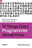 couverture du livre '97 Things Every Programmer Should Know'