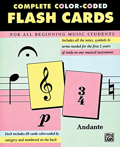 89 Color-Coded Flash Cards --- Piano -   --- Alfred Publishing
