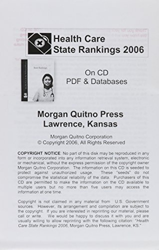 Health Care State Rankings 2006 With Databases: Health Care in the 50 United States PDF Books