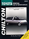 TOYOTA Previa automotive repair manual