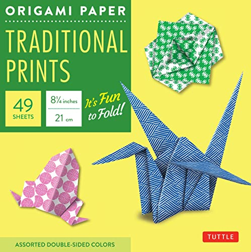 Origami Paper Traditional Prints: Assorted Double-Sided Colors