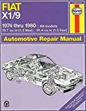 FIAT Bertone X1/9 Lido automotive repair manual