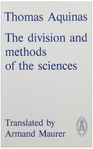 The Division and Methods of the Sciences PDF Books
