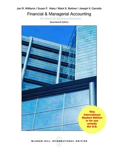 Financial and Managerial Accounting par  Williams