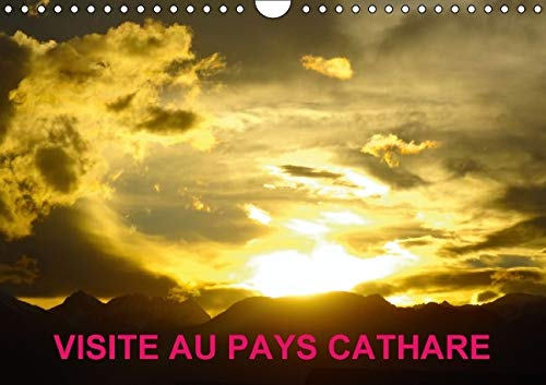 Visite au pays cathare : Les châteaux Cathares. Calendrier mural A4 horizontal
