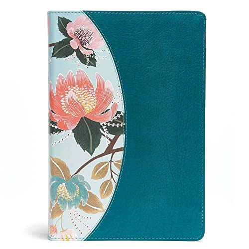 The Study Bible for Women: Christian Standard Bible, Teal Flowers, Leathertouch