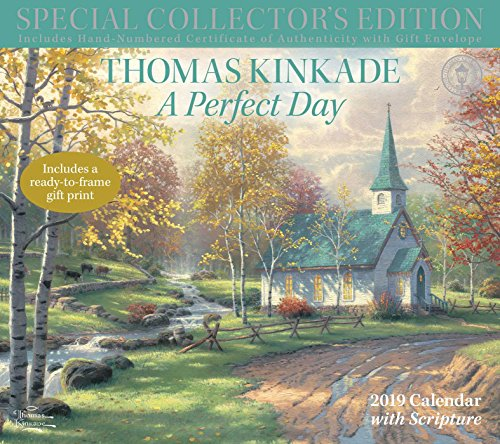 Thomas Kinkade A Perfect Day With Scripture 2019 Calendar: Includes a Ready-to-Frame Gift Print
