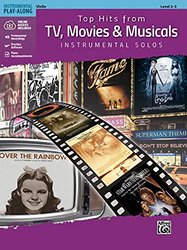 Top Hits from TV, Movies & Musicals Instrumental Solos for Strings: Violin