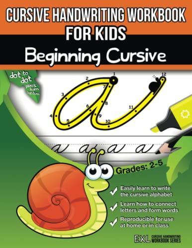 Cursive Handwriting Workbook for Kids: Beginning Cursive