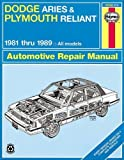 DODGE Aries automotive repair manual