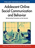 Adolescent online social communication and behavior-visual