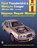 FORD (USA) Thunderbird automotive repair manual