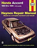 HONDA Accord automotive repair manual