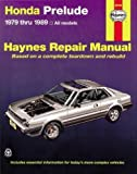 HONDA Prelude automotive repair manual