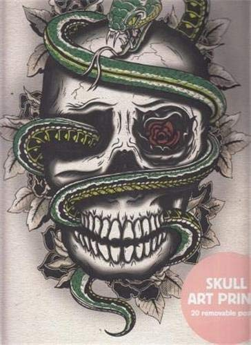 Skull Art Prints : 20 Removable Posters