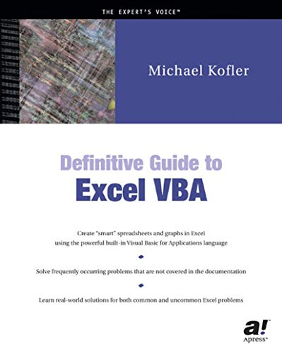 The Definitive Guide to Excel VBA - TechBookReport