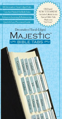 Majestic Decorative Floral-Edged Bible Tabs