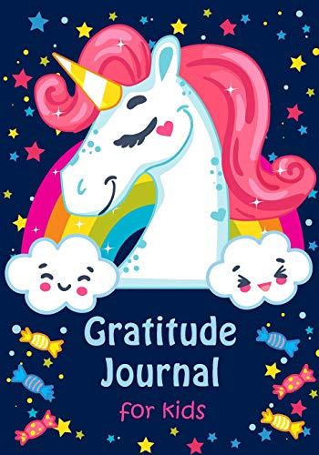 Gratitude Journal for Kids: Girl Unicorn 90 Days Daily Writing Today I am grateful for... Children Happiness Notebook