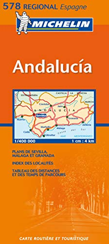 Carte RGIONAL Andalucia par Collectif Michelin