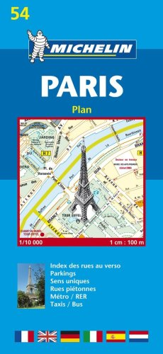 Plan de ville : Paris, numéro 54 par Plans de Ville Michelin Europe