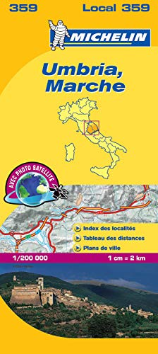 Carte Ombrie Marches Michelin