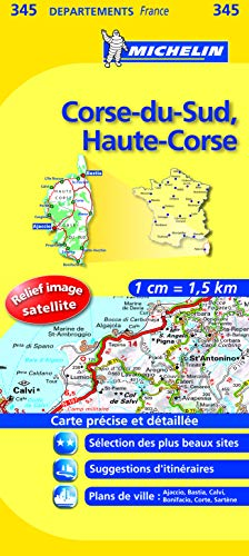 Carte DPARTEMENTS Corse-du-Sud, Haute-Corse par Collectif Michelin