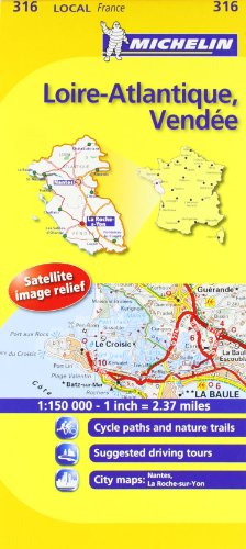 Michelin Map France: Loire-Atlantique, Vendee 316