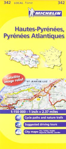 Michelin Map France: Hautes-pyrnes, Pyrnes Atlantiques 342