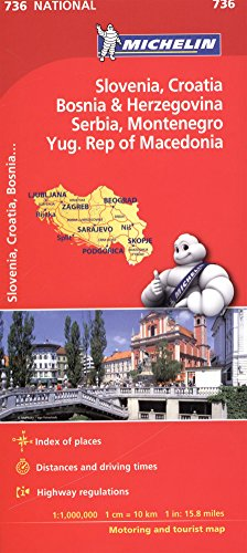 Slovenia, Croatia, Bosnia - Michelin National Map 736 par Michelin