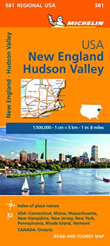 Michelin Map USA New England, Hudson Valley par Michelin Travel & Lifestyle