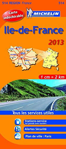 Carte REGION Ile de France 2013 n°514 par Collectif Michelin