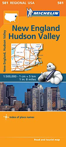 New England, Hudson Valley - Michelin Regional Map 581 par Michelin