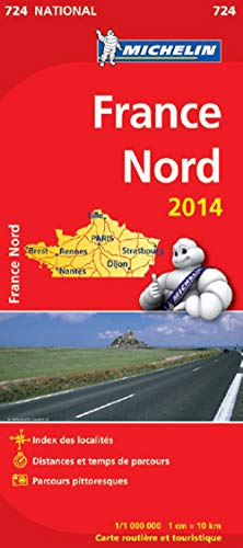 Carte France Nord 2014 Michelin