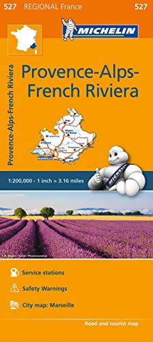 Michelin Regional Maps: France: Provence-Alpes-Cote d'Azur / Provence-Alps-French Riviera Map