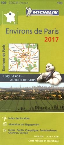 Carte Environs de Paris Michelin 2017 par Collectif Michelin