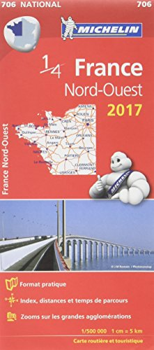 Carte France Nord-Ouest Michelin 2017