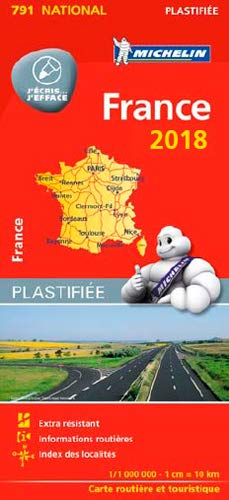 Carte France Plastifiée Michelin 2018