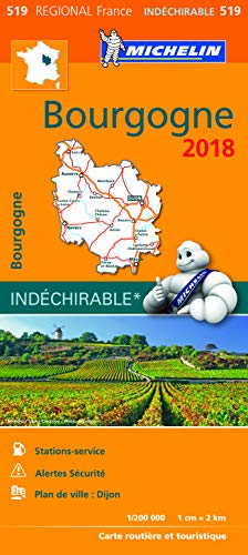 Carte Bourgogne Michelin 2018 par Michelin