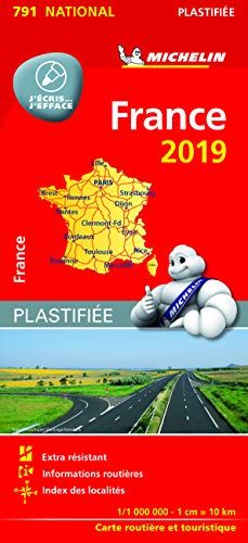 Carte France Plastifiée Michelin 2019