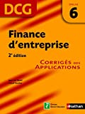 DCG 6 - Finance d'entreprise - Corrig�s des applications - Nathan 2009