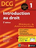 DCG 1 - Introduction au droit - Manuel et applications - Nathan 2010
