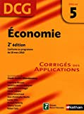DCG 5 - Economie - Corrig�s des applications - 2� �dition - Nathan 2012